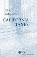 Guidebook to California Taxes