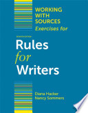 Working With Sources: Exercises for Rules for Writers