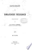 Zeitschrift Romanische Philogogie
