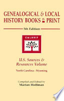 Genealogical   Local History Books in Print Volume N W