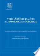 Vers Un Droit D Acc S L Information Publique
