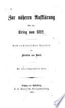 Zur näheren Aufklärung über den Krieg von 1812