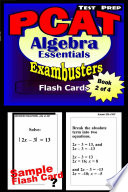 PCAT Test Prep Algebra Review  Exambusters Flash Cards  Workbook 2 of 4