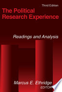 The Political Research Experience  Readings and Analysis