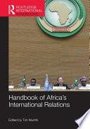 Handbook of Africa s International Relations
