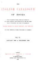 The English Catalogue of Books