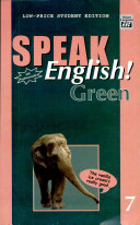 Speak English  Green 7 With Audiocassette
