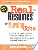 Real Resumes for Nursing Jobs