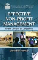 Effective Non Profit Management