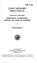 Seacoast Artillery Formations  Inspections  Service  and Care of Mat  riel