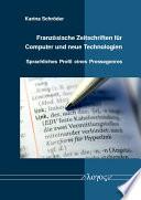 Franz  sische Zeitschriften f  r Computer und neue Technologien