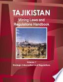 Tajikistan Mining Laws and Regulations Handbook