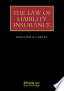 The Law of Liability Insurance