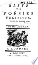 Élite de poésies fugitives