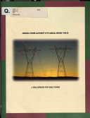 Annual Report   Arizona Power Authority