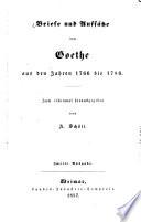 Briefe und Aufs  tze von Goethe aus den Jahren 1766 bis 1786