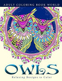 Adult Coloring Books  Owls