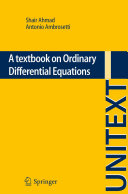 A textbook on Ordinary Differential Equations Ordinary Differential Equations Each Chapter Is Completed