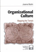 Organizational culture : mapping the terrain