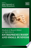 Handbook of Research Methods and Applications in Entrepreneurship and Small Business