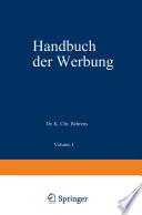 Handbuch der Werbung