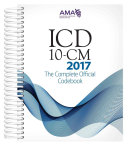 Icd 10 Cm 2017 The Complete Official Code Book