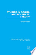 Studies in Social and Political Theory  RLE Social Theory