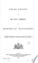 Third Report of the Royal Commission on Historical Manuscripts
