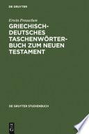 Griechisch-deutsches Taschenwörterbuch zum Neuen Testament