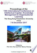 14th International Conference on Intellectual Capital Knowledge Management   Organisational Learning