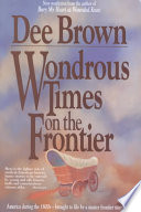 Book Wondrous Times on the Frontier