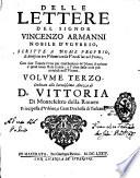 Delle Lettere del signor Vincenzo Armanni