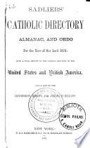 Sadliers  Catholic Directory  Almanac and Clergy List Quarterly Book PDF
