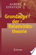 Grundz  ge der Relativit  tstheorie