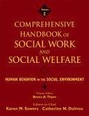 Comprehensive Handbook of Social Work and Social Welfare  Human behavior in the social environment