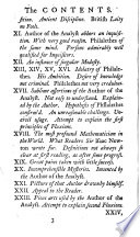 A defence of free thinking in mathematics  in answer to a pamphlet of Philalethes Cantabrigiensis entitled Geometry No Friend to Infidelity  Also an appendix concerning mr  Walton s Vindication of the principles of fluxions against the objections contained in The analyst  By the author of The minute philosopher