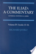 The Iliad  A Commentary  Volume 4