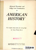 Advanced placement and college level examinations in American history