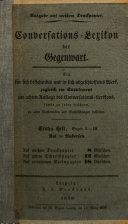 Conversations-Lexikon der Gegenwart