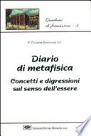 Diario di metafisica