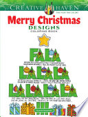 Creative Haven Merry Christmas Designs Coloring Book