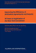 Improving the Efficiency of Arbitration Agreements and Awards