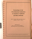 Proceedings Of The First Binational Conference On Libraries In California And Baja California Held In Tijuana Baja California Mexico January 13 And 14 1984