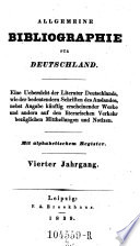 Allgemeine Bibliographie für Deutschland. Mit alphabetischen und systematischen Registern