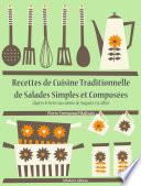illustration Recettes de Cuisine Traditionnelle de Salades Simples et Composées