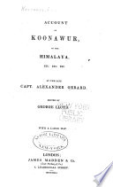 Account of Koonawur  in the Himalaya