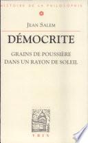 illustration du livre Démocrite