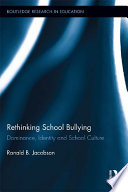 Ebook Rethinking School Bullying Epub Ronald B. Jacobson Apps Read Mobile