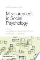 Measurement In Social Psychology