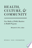 Health  Culture  and Community